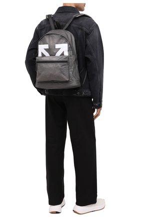 Мужской рюкзак OFF-WHITE серого цвета, арт. 0MNB029E20PLA0011001 | Фото 2
