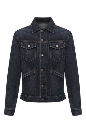 Мужская джинсовая куртка TOM FORD темно-синего цвета, арт. BVJ31/TFD111 | Фото 1