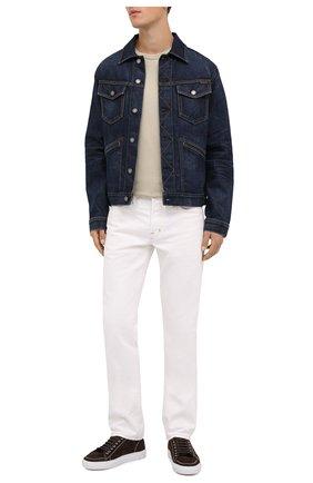 Мужская джинсовая куртка TOM FORD темно-синего цвета, арт. BVJ31/TFD111 | Фото 2