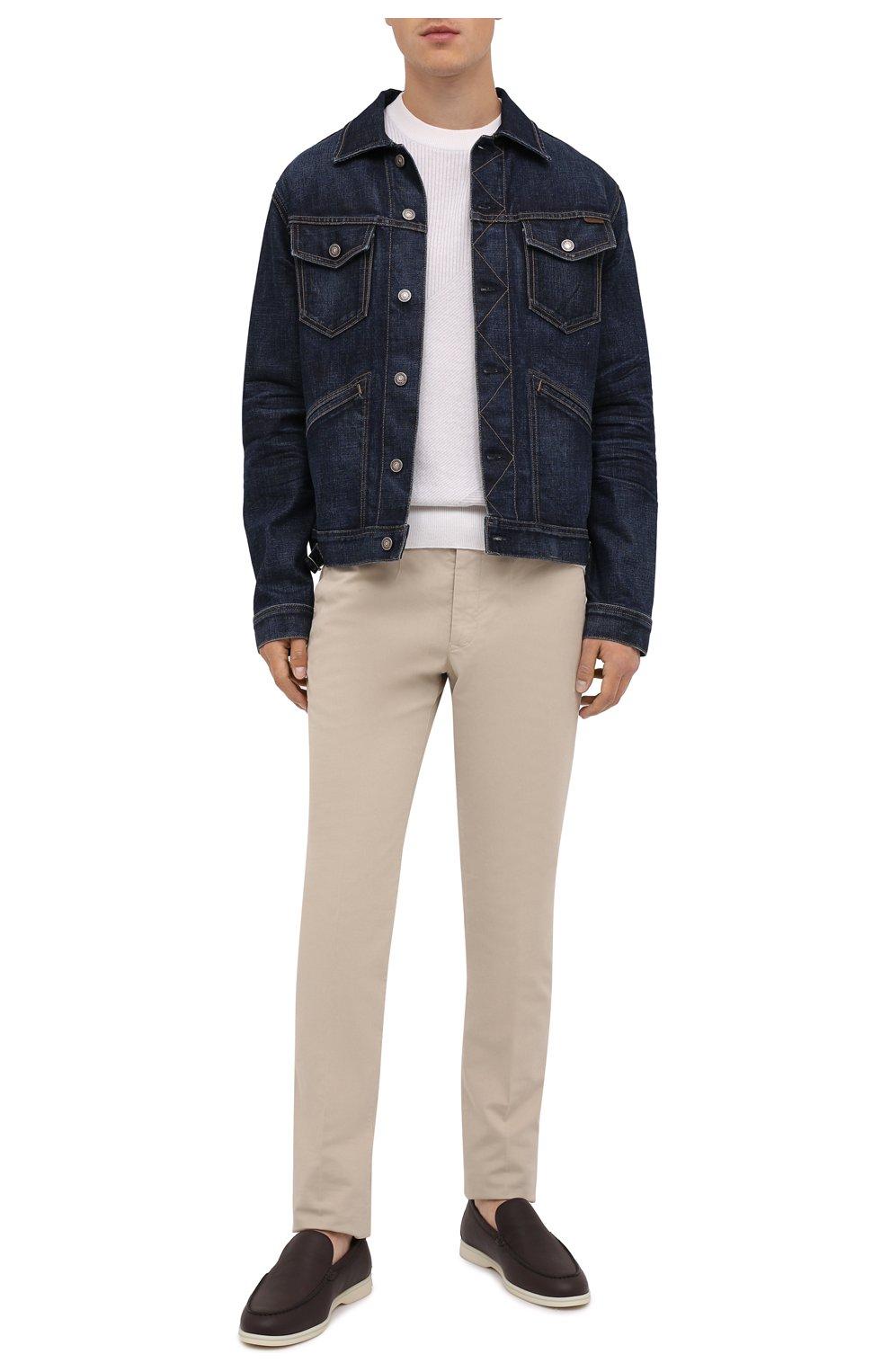 Мужская джинсовая куртка TOM FORD темно-синего цвета, арт. BVJ31/TFD111 | Фото 3 (Кросс-КТ: Куртка; Рукава: Длинные; Материал внешний: Хлопок; Мужское Кросс-КТ: Куртка-верхняя одежда, Верхняя одежда; Длина (верхняя одежда): Короткие; Стили: Кэжуэл)
