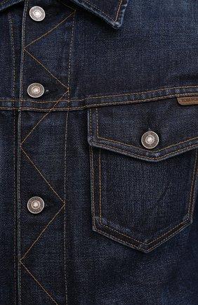 Мужская джинсовая куртка TOM FORD темно-синего цвета, арт. BVJ31/TFD111 | Фото 6 (Кросс-КТ: Куртка; Рукава: Длинные; Материал внешний: Хлопок; Мужское Кросс-КТ: Куртка-верхняя одежда, Верхняя одежда; Длина (верхняя одежда): Короткие; Стили: Кэжуэл)