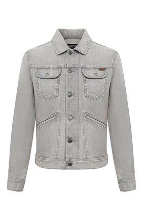 Мужская джинсовая куртка TOM FORD светло-серого цвета, арт. BVJ26/TFD116 | Фото 1