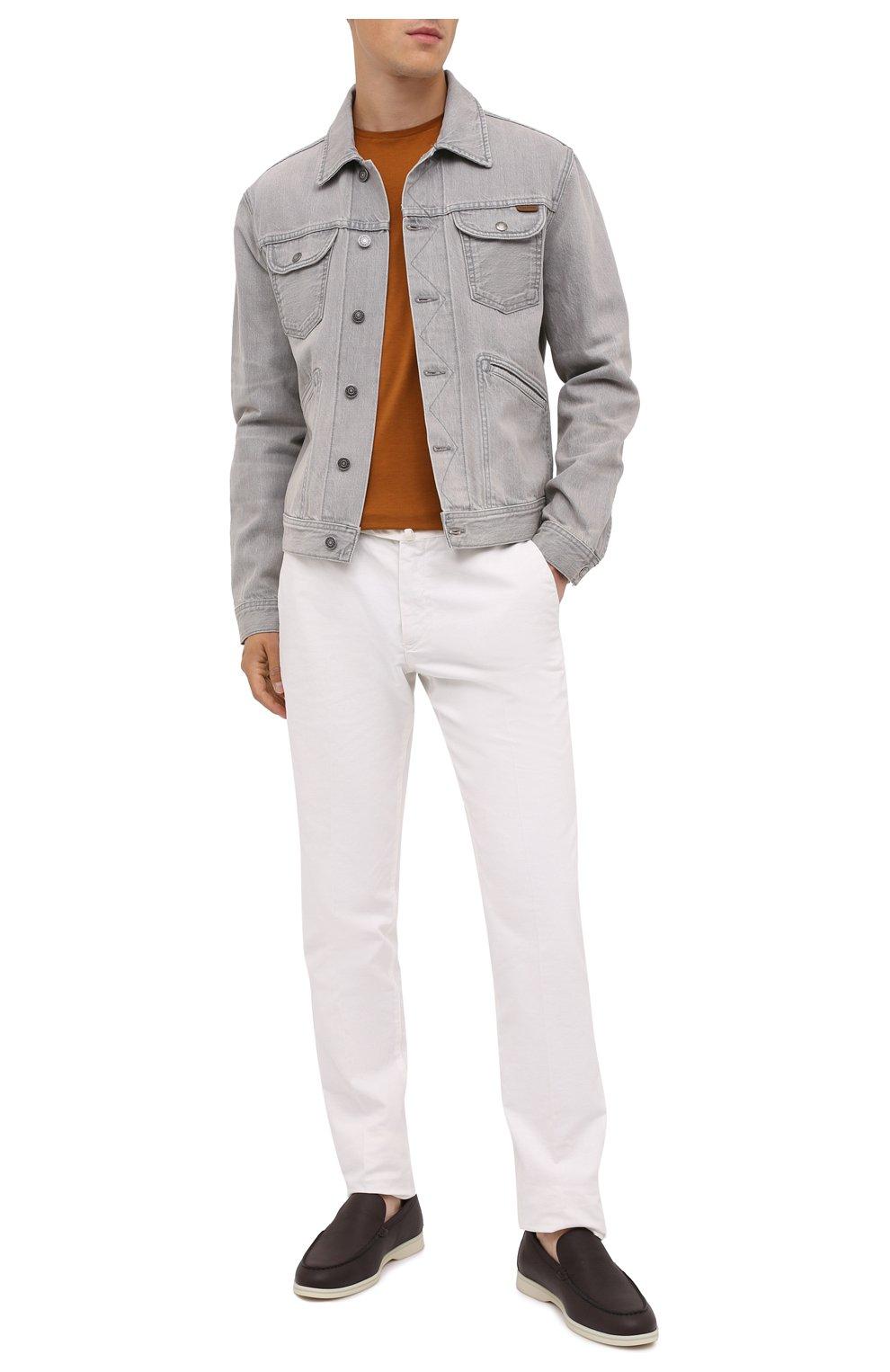 Мужская джинсовая куртка TOM FORD светло-серого цвета, арт. BVJ26/TFD116   Фото 2