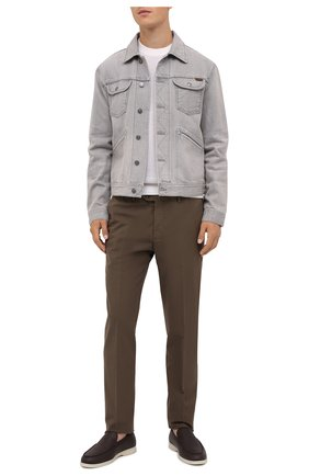 Мужская джинсовая куртка TOM FORD светло-серого цвета, арт. BVJ26/TFD116   Фото 3
