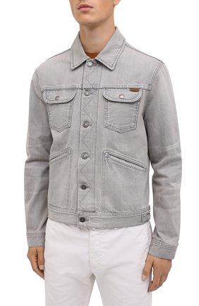 Мужская джинсовая куртка TOM FORD светло-серого цвета, арт. BVJ26/TFD116   Фото 4