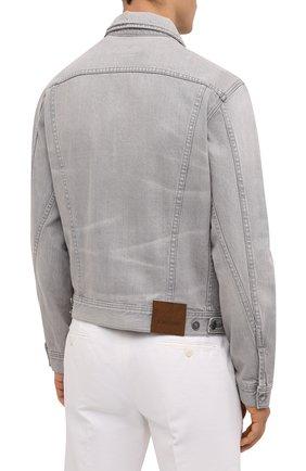 Мужская джинсовая куртка TOM FORD светло-серого цвета, арт. BVJ26/TFD116   Фото 5