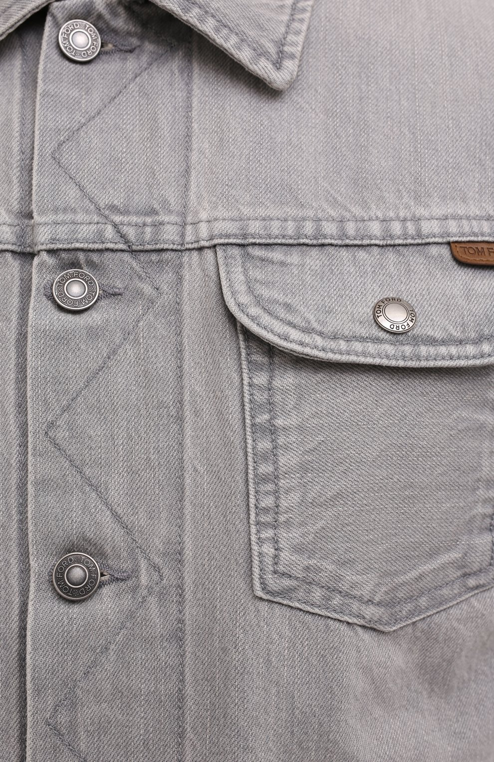 Мужская джинсовая куртка TOM FORD светло-серого цвета, арт. BVJ26/TFD116   Фото 6