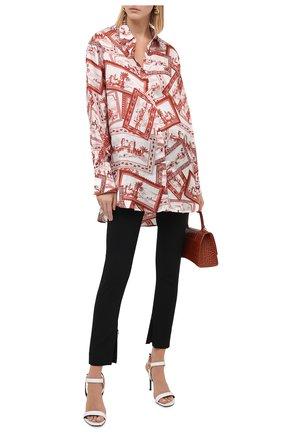 Женские шерстяные брюки VERSACE черного цвета, арт. A86445/A226027 | Фото 2