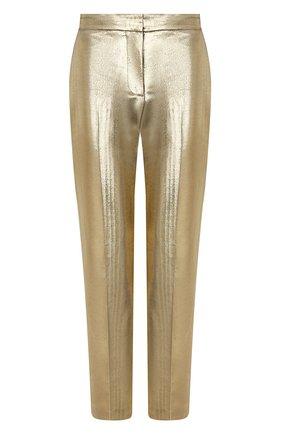 Женские брюки из хлопка и шелка ALEXANDER MCQUEEN золотого цвета, арт. 631818/QEACC | Фото 1
