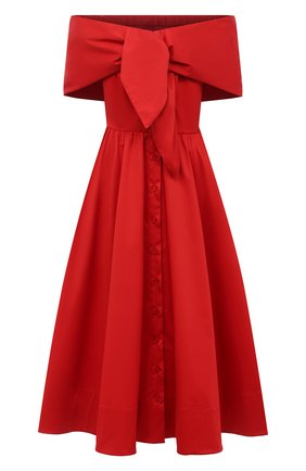 Женское платье OSCAR DE LA RENTA красного цвета, арт. 20PN227SRN | Фото 1