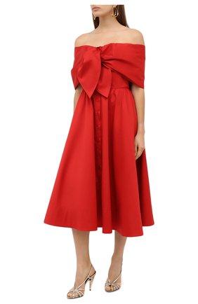 Женское платье OSCAR DE LA RENTA красного цвета, арт. 20PN227SRN | Фото 2