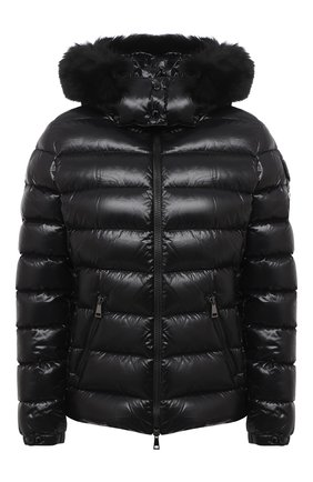 Женский пуховая куртка MONCLER черного цвета, арт. F2-093-1A540-02-C0064 | Фото 1
