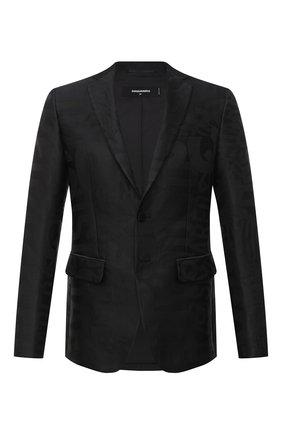 Мужской пиджак DSQUARED2 черного цвета, арт. S74BN1014/S53138 | Фото 1