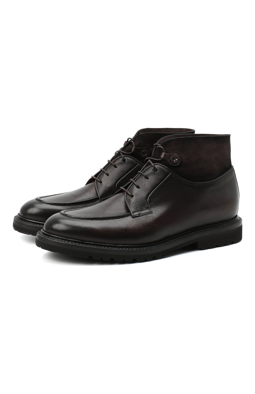 Мужские кожаные ботинки BARRETT темно-коричневого цвета, арт. 192U026.8/RAIDER   Фото 1