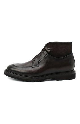 Мужские кожаные ботинки BARRETT темно-коричневого цвета, арт. 192U026.8/RAIDER   Фото 3