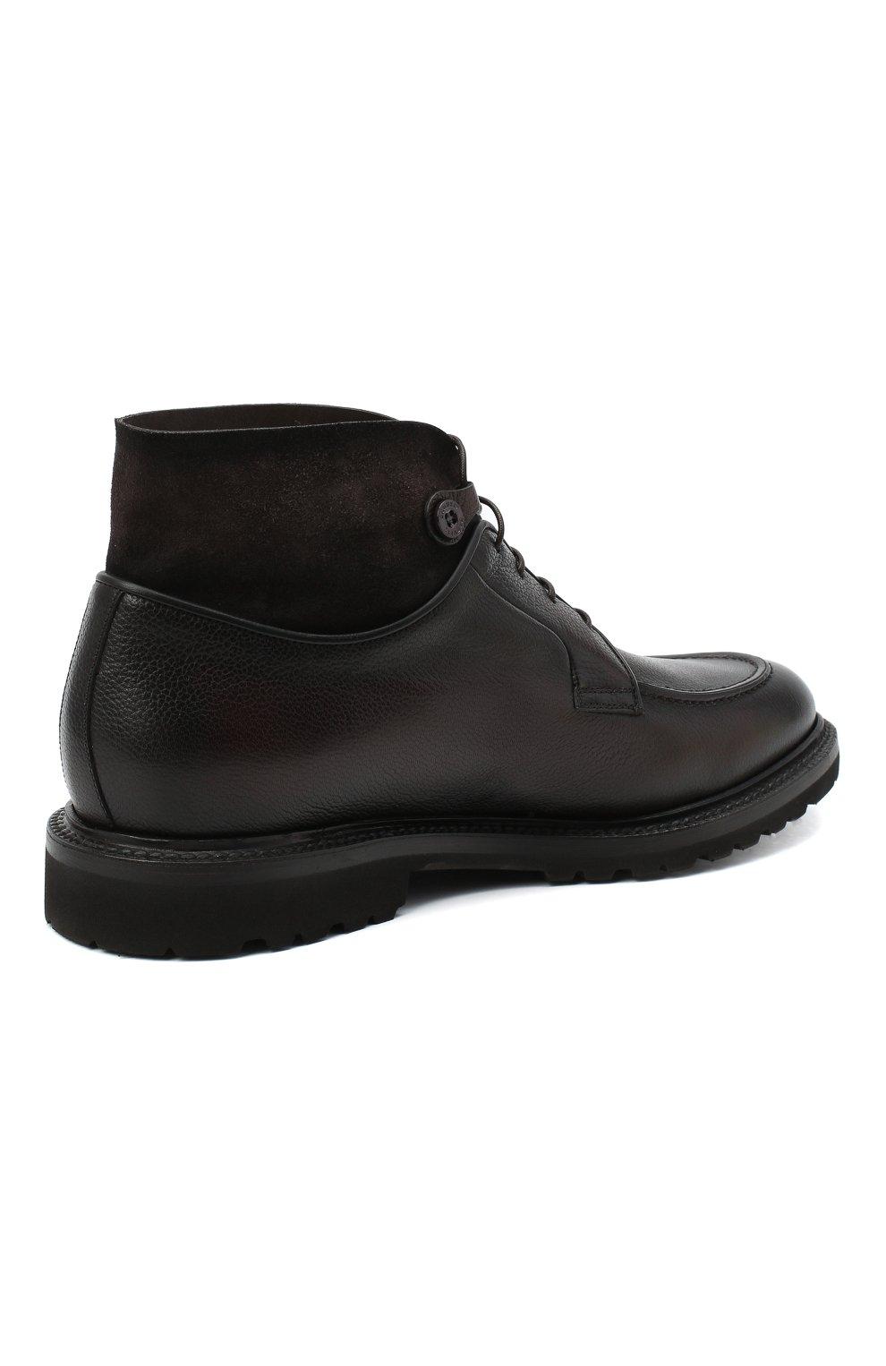 Мужские кожаные ботинки BARRETT темно-коричневого цвета, арт. 192U026.8/RAIDER   Фото 4