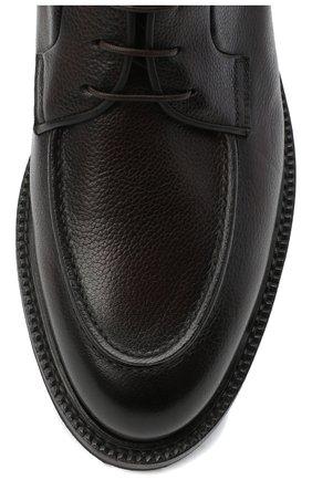 Мужские кожаные ботинки BARRETT темно-коричневого цвета, арт. 192U026.8/RAIDER   Фото 5