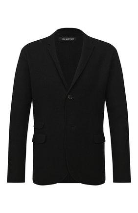 Мужской пиджак из шерсти и хлопка NEIL BARRETT черного цвета, арт. PBMA1096/P601 | Фото 1