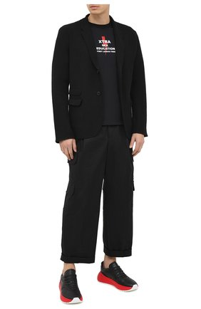 Мужской пиджак из шерсти и хлопка NEIL BARRETT черного цвета, арт. PBMA1096/P601 | Фото 2