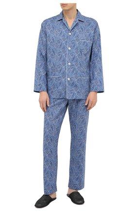 Мужская хлопковая пижама ROBERTO RICETTI синего цвета, арт. PIGIAMA VENEZIA/EX-0R02313 | Фото 1
