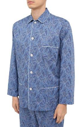 Мужская хлопковая пижама ROBERTO RICETTI синего цвета, арт. PIGIAMA VENEZIA/EX-0R02313 | Фото 2