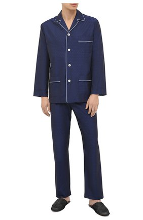 Мужская хлопковая пижама ROBERTO RICETTI темно-синего цвета, арт. PIGIAMA VENEZIA/EX-B2310 | Фото 1