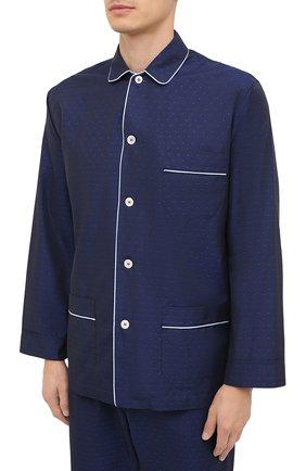 Мужская хлопковая пижама ROBERTO RICETTI темно-синего цвета, арт. PIGIAMA VENEZIA/EX-B2310 | Фото 2