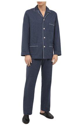 Мужская хлопковая пижама ROBERTO RICETTI темно-синего цвета, арт. PIGIAMA VENEZIA/EX-LX2306 | Фото 1