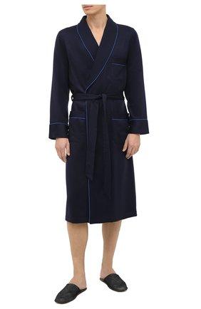 Мужской кашемировый халат ROBERTO RICETTI синего цвета, арт. VESTAGLIA R0BE/EX-CASH2301 | Фото 2