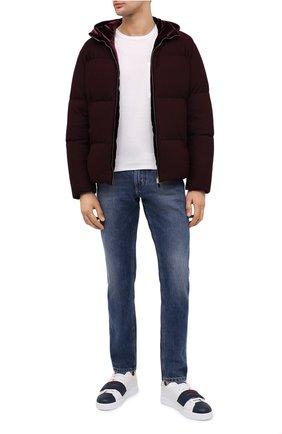 Мужские кожаные кеды portofino DOLCE & GABBANA белого цвета, арт. CS1803/AW149 | Фото 2