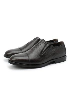 Мужские кожаные лоферы ALDO BRUE темно-коричневого цвета, арт. AB4039.CM.P.BU | Фото 1