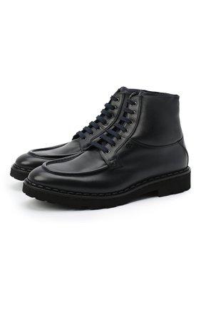 Мужские кожаные ботинки ALDO BRUE темно-синего цвета, арт. AB4228K-DDMD.L.NP3B | Фото 1