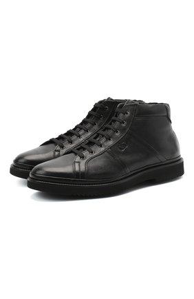 Мужские кожаные ботинки ALDO BRUE черного цвета, арт. AB8535K-MR.L.E20G | Фото 1