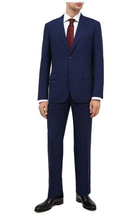 Мужской шерстяной костюм BRIONI темно-синего цвета, арт. RAH00P/09A69/PARLAMENT0 | Фото 1