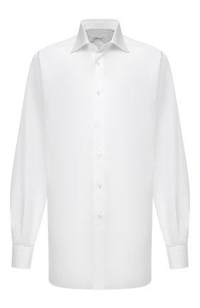 Мужская хлопковая сорочка BRIONI белого цвета, арт. RCL42F/PZ005   Фото 1