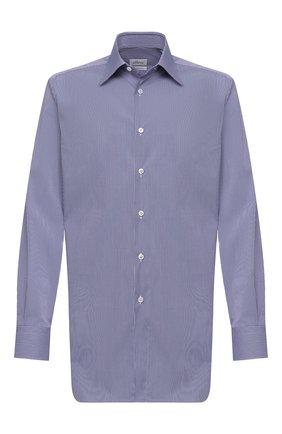 Мужская хлопковая сорочка BRIONI синего цвета, арт. RCB40L/0906T | Фото 1