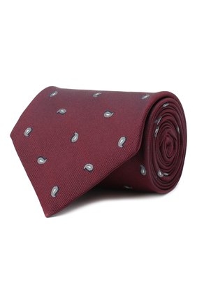 Мужской шелковый галстук BRIONI бордового цвета, арт. 062H00/09484 | Фото 1