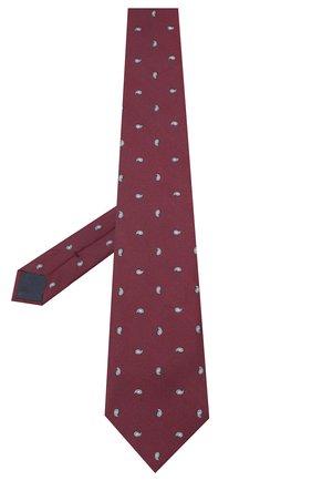 Мужской шелковый галстук BRIONI бордового цвета, арт. 062H00/09484 | Фото 2
