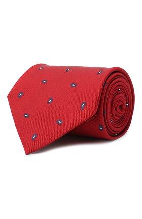 Мужской шелковый галстук BRIONI красного цвета, арт. 062H00/09484 | Фото 1