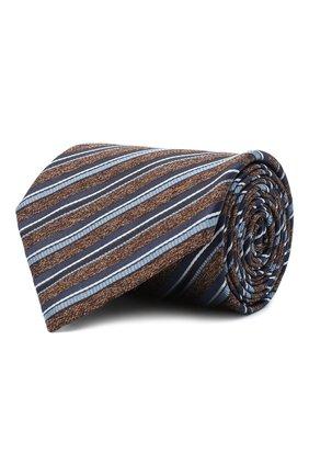 Мужской шелковый галстук BRIONI коричневого цвета, арт. 062H00/09471 | Фото 1