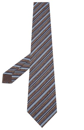 Мужской шелковый галстук BRIONI коричневого цвета, арт. 062H00/09471 | Фото 2