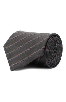 Мужской шелковый галстук BRIONI серого цвета, арт. 062H00/09470 | Фото 1