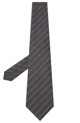 Мужской шелковый галстук BRIONI серого цвета, арт. 062H00/09470 | Фото 2
