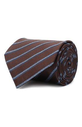Мужской шелковый галстук BRIONI коричневого цвета, арт. 062H00/09470 | Фото 1