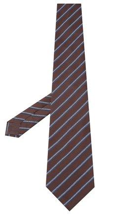 Мужской шелковый галстук BRIONI коричневого цвета, арт. 062H00/09470 | Фото 2