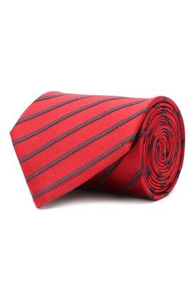 Мужской шелковый галстук BRIONI красного цвета, арт. 062H00/09470 | Фото 1