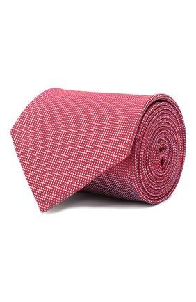 Мужской шелковый галстук BRIONI красного цвета, арт. 062H00/09459 | Фото 1