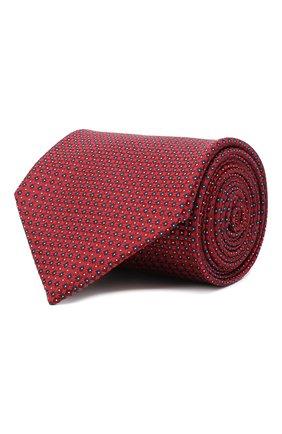 Мужской шелковый галстук BRIONI красного цвета, арт. 062H00/09458 | Фото 1