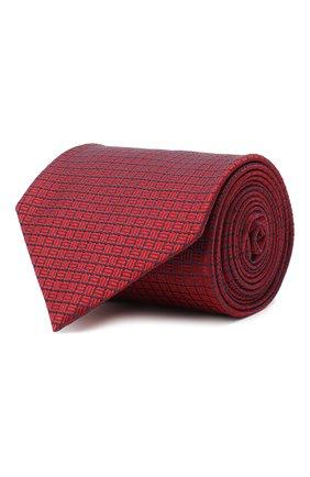 Мужской шелковый галстук BRIONI красного цвета, арт. 062H00/09457 | Фото 1
