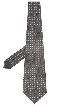 Мужской шелковый галстук BRIONI серого цвета, арт. 062H00/09455 | Фото 2